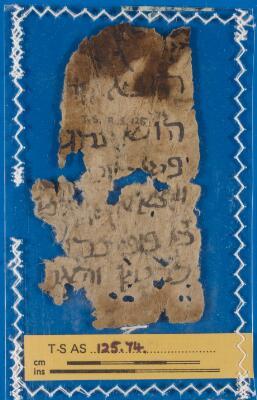 "<bdi class=""metadata-value"">Genizah Fragment 125.74</bdi>"